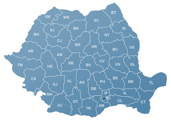 Harta Romaniei